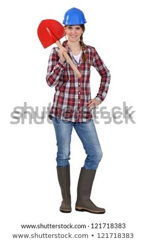 Tradeswoman holding a spade Stock photo © photography33