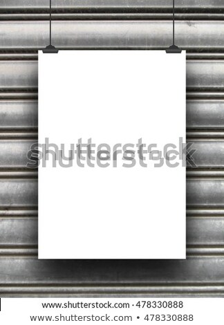 Grey vertical line of painting against a white background Stock photo © wavebreak_media
