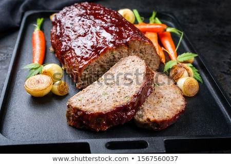 Sandwich carne open due alimentare pane Foto d'archivio © jarp17