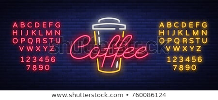 neon cafe sign Stock photo © Snapshot