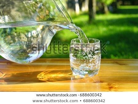 Víz üveg zöld természet háttér űr Stock fotó © maxpro