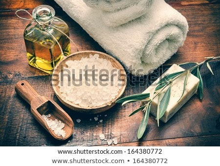 Stockfoto: Zeezout · zeep · aromatisch · bloem · bamboe · medische