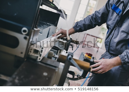 worker cutting aluminum stock photo © smuki