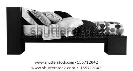 Bed. Clipping path stock photo © karammiri