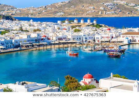 mykonos port stock photo © sognolucido