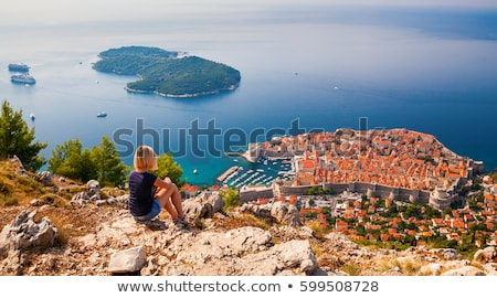 Dubrovnik ver edifício mar Foto stock © LianeM