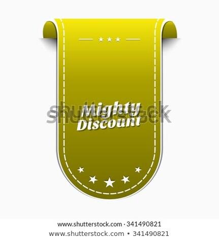 Machtig korting Geel vector icon ontwerp Stockfoto © rizwanali3d