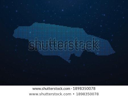 kaart · Jamaica · groene · vector · geïsoleerd - stockfoto © istanbul2009