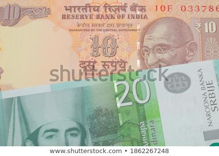 Close-up of Indian twenty rupee banknotes Stock photo © imagedb