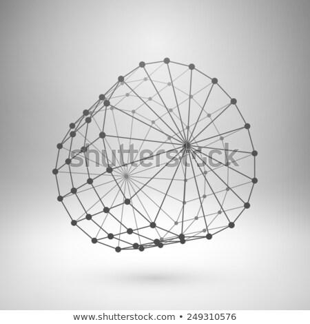 vektör · soyut · ağ · tel · kafes · tıbbi · teknoloji - stok fotoğraf © netkov1