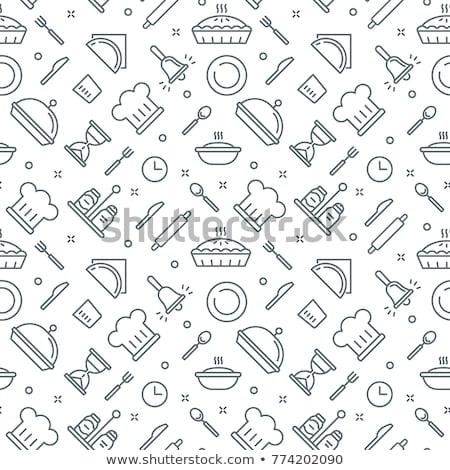 kitchen vector pattern Stock photo © frescomovie