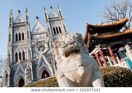 Católico iglesia China histórico cielo puerta Foto stock © bbbar