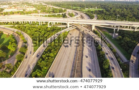 Houston · centre-ville · Skyline · ciel · bleu · Texas · jour - photo stock © lunamarina