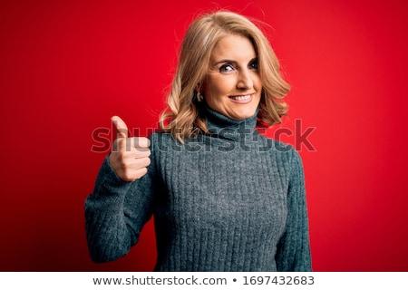 Beautiful Blonde Thumbs Up stock photo © fouroaks