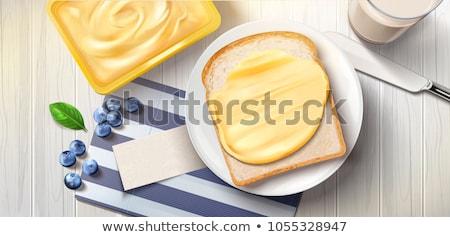 Sandviç ekmek tereyağı dilimleri ahşap Stok fotoğraf © Digifoodstock