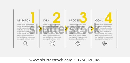 four steps template stock photo © orson