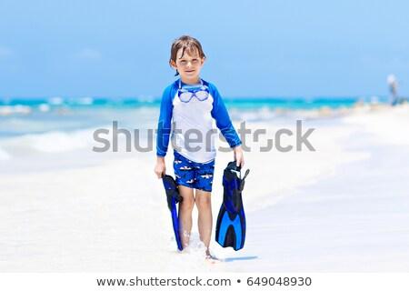 Piccolo ragazzo sorriso bambino sfondo arte Foto d'archivio © bluering