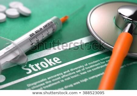 Diagnosis - Brain Stroke. Medicine Concept. 3D Illustration. Stock photo © tashatuvango