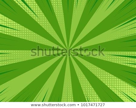 Zöld képregény stílus sablon könyv absztrakt Stock fotó © SArts