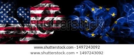 Piłka nożna płomienie banderą europejski Unii czarny Zdjęcia stock © MikhailMishchenko