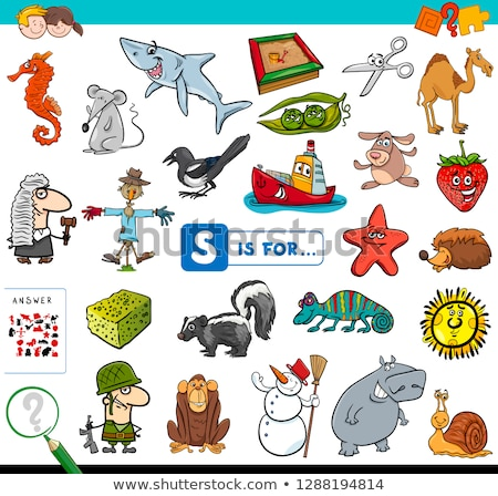 Worksheet design for words starting with S Stock photo © bluering