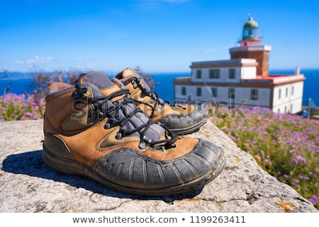 Used shoes at the end of Saint James Way Finisterre Stock photo © lunamarina