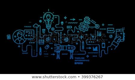 Kariyer gelişme uygulaması arayüz şablon işadamları Stok fotoğraf © RAStudio