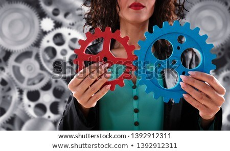 ビジネスチーム · 歯車 · チームワーク · パートナーシップ · 統合 · ダブル - ストックフォト © alphaspirit