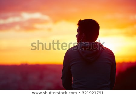 Man thinks at dawn Stock photo © Kotenko