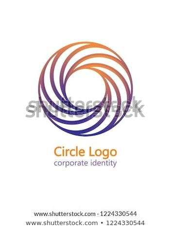 Logo magenta business icon vector abstract Stockfoto © blaskorizov