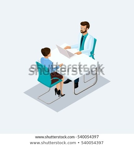 3d doctor and people taking patient Stock photo © ribah