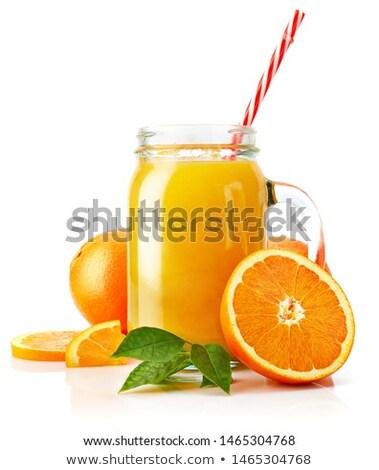 vidro · jarra · orgânico · fresco · suco · de · laranja - foto stock © DenisMArt