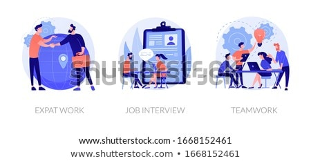HR services webpage template. Stock photo © RAStudio