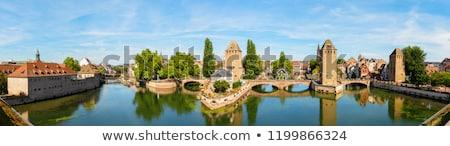 panorama · brug · middeleeuwse · water · gebouw · reizen - stockfoto © borisb17
