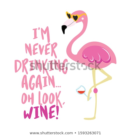 Nigdy pitnej wygląd wina cute Zdjęcia stock © Zsuskaa