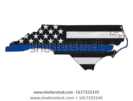 State of North Carolina Police Support Flag Illustration Stock photo © enterlinedesign