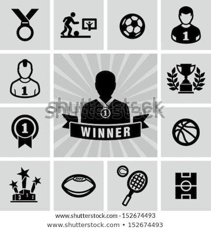 Podium gagnant trophée sport équipement Photo stock © JanPietruszka