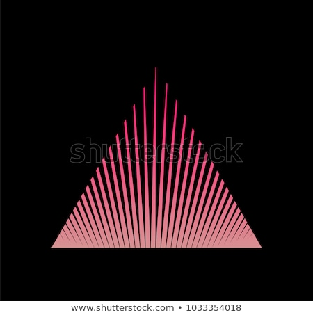 Futuristic abstract geometric triangle logo design made out of stipes. Corporate tech geometric iden Stock photo © kyryloff