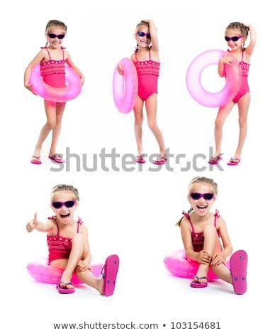 женщины пловец розовый Бикини белый иллюстрация Сток-фото © bluering