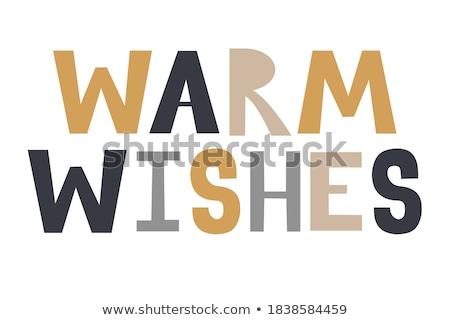 Christmas Warm Wishes Card, Greeting Postcard Stock photo © robuart