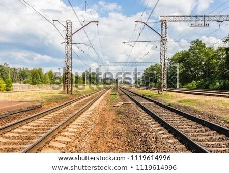 Vasút nap vasút öreg vonatok szépség Stock fotó © olira