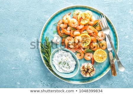 Fried tasty shrimps Stock photo © olira