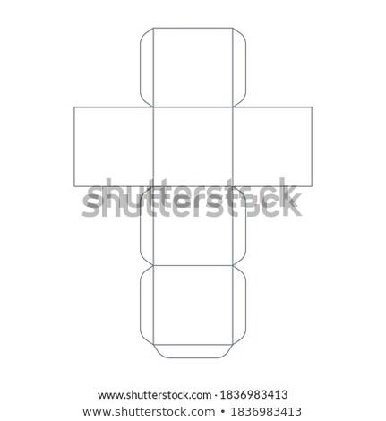 Paper cube template, trim scheme on white Stock photo © evgeny89