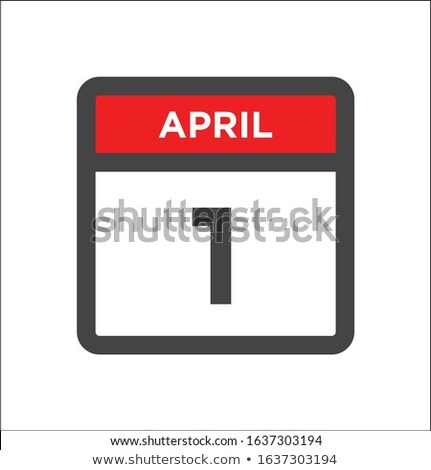 Simple black calendar icon with 1st april date isolated on white Stock photo © evgeny89