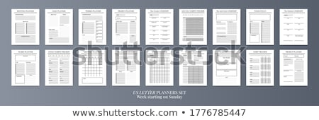 Calendar on 2021 year with week starting from monday, A4 size vertical sheet isolated on white Stock photo © evgeny89