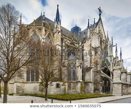 Bazilika szent városi Franciaország középkori templom Stock fotó © borisb17