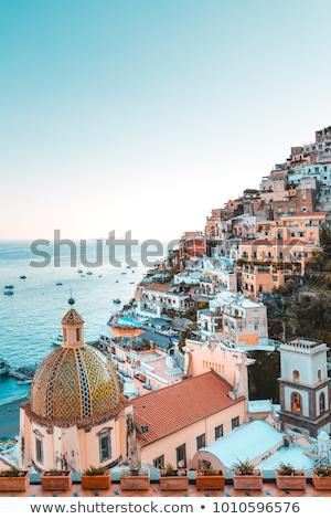 известный домах итальянский пляж город горные Сток-фото © elxeneize