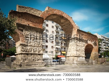 Arc thessalonique Grèce annonce pierre architecture Photo stock © borisb17