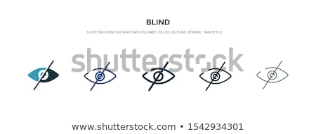 visual impairment icon vector outline illustration Stock photo © pikepicture