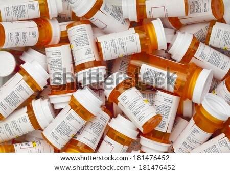 Medicamentos isolado branco saúde fundo Foto stock © kitch